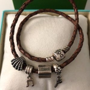 Pandora Jewelry - Double Wrap Pandora Bracelet with charms